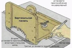 Шипорезное приспособление на циркулярном столе