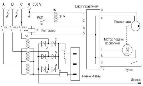 Электрическая схема бытового сварочного аппарата