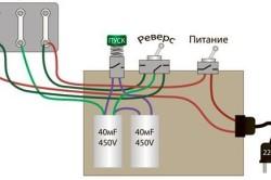 Схема подключения электромотора ленточной пилорамы