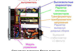 Схема построения типового блока питания от компьютера