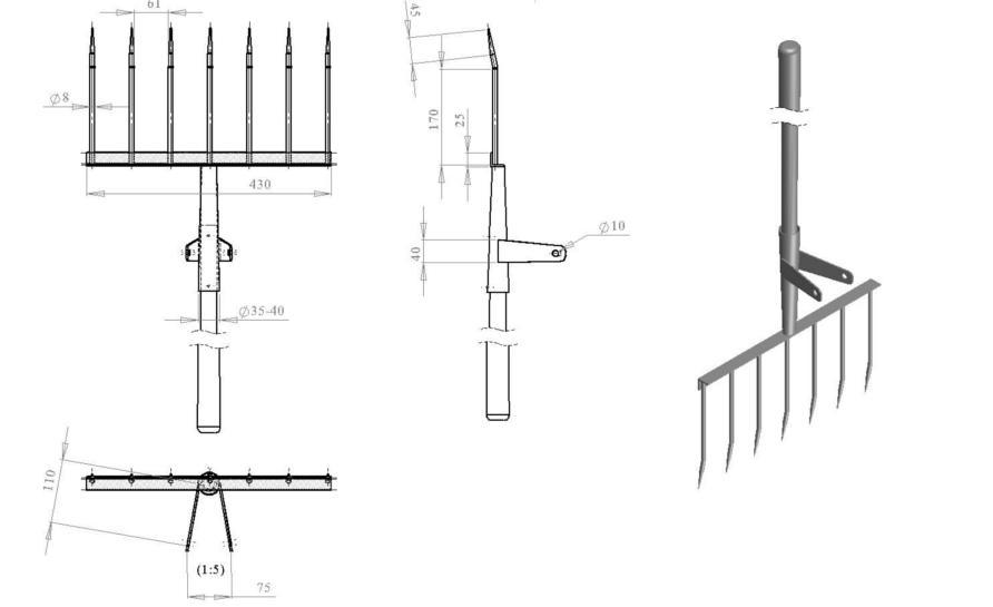 Схема сварки элементов чудо-лопаты