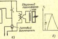 Конденсаторная сварка с разрядом конденсатора через первичную обмотку трансформатора