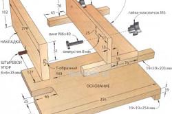 Схема приспособления для фрезерования шипов