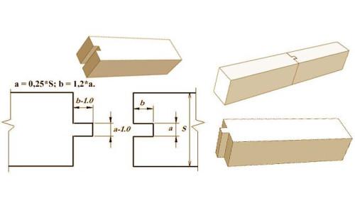 Схема коренного шипа