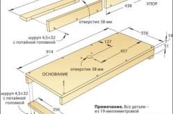 Схема сборки столешницы для станка-плиткореза из богларки