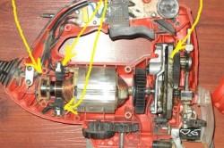 Элементы электро лобзика, требующие замены или смазки