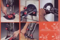 Варианты использования направляющей для сверления дрелью
