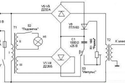 Схема аппарата для точечной сварки