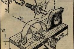 Схема соединения деталей самодельной циркулярной пилы из дрели