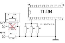 Схема обратной связи по напряжению TL494 в компьютерном блоке питания