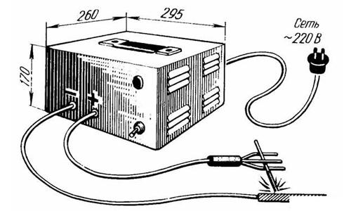 Схема самодельного сварочного аппарата