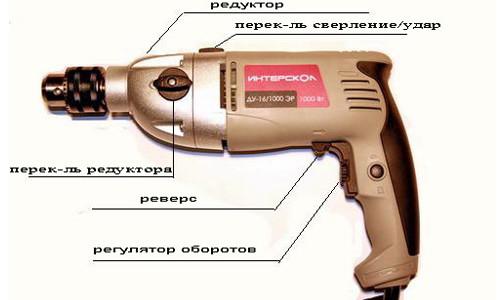 Схема устройства электродрели