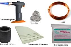 Материалы и инструменты для пайки латуни