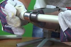 Процесс пайки труб