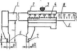 Односторонний штангенциркуль с глубиномером наружных замеров