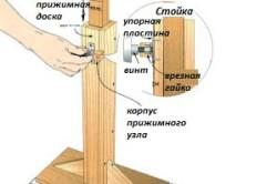 Схема деревянной стойки для дрели