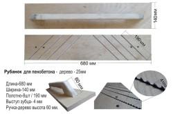 Конструкция рубанка для газобетонных блоков