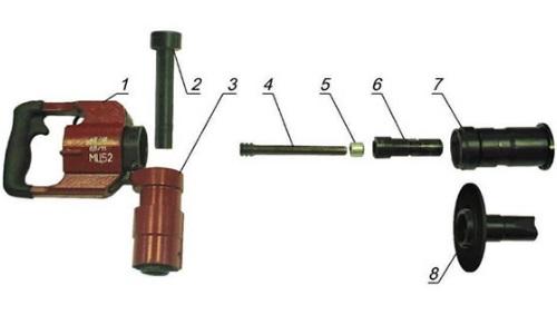 Основные составные части строительного пистолета