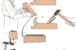 Схема сборки и наладки рубанка