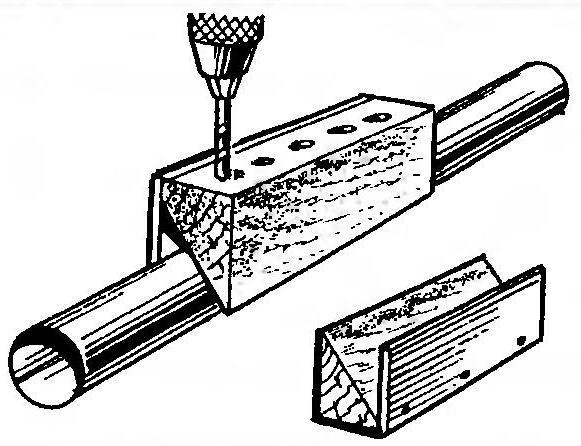Схема сверления отверстий при