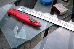Подготовка рабочей поверхности к резке стекла