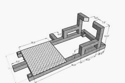 Схема соединения профильных труб для ручной лебедки
