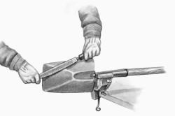 Заточка инструмента напильником
