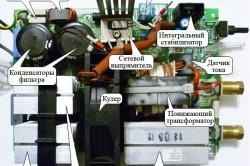 Схема элементов инверторного сварочного аппарата