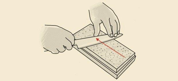 Схема заточки ножа на