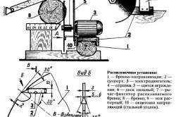 Схема самодельной распиловочной установки