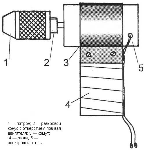 Схема мини-дрели
