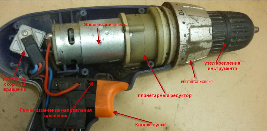 Схема внутреннего устройство