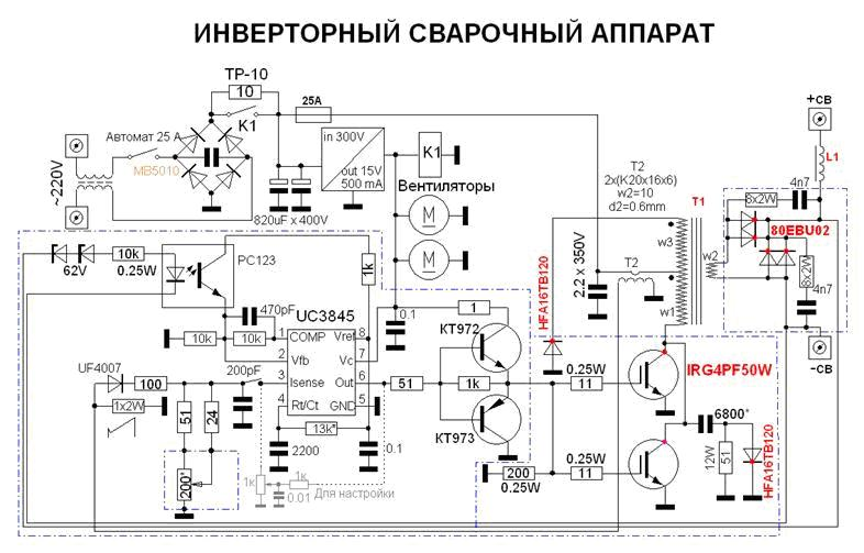 Схема устройство инверторного