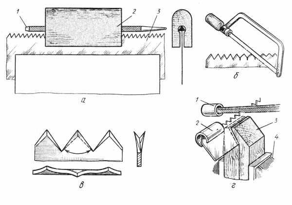Приспособления для заточки ножовки по дереву своими руками