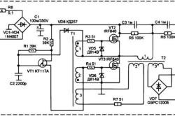 Схема питания аккумуляторной дрели