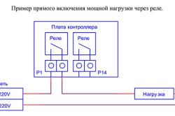 Схема подключения фрезера к контроллеру