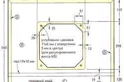 Схема рамы фрезерного стола