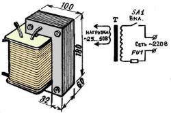 Схема плавильной печи из трансформатора