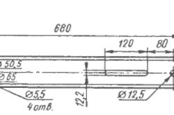 Схема штанги для ленточной пилы