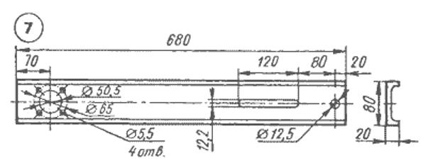 Схема штанги для ленточной