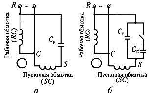 Электродвигатель асинхронный схема включения фото 778