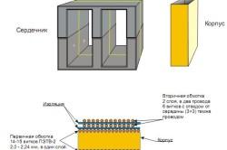 Схема дросселя сварочного инвертора