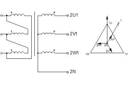 Схема соединения обмоток типа Dy