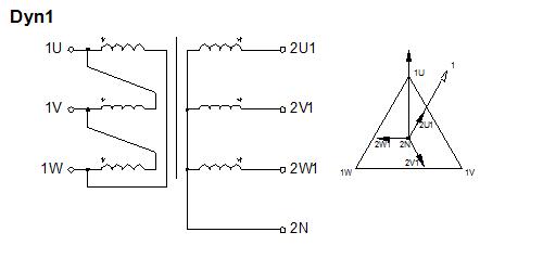 Схема соединения обмоток типа