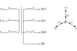 Схема соединения обмоток типа Yy