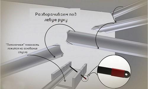 Схема установки потолочного плинтуса своими руками