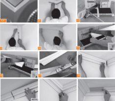 Как сделать угол потолочного плинтуса в домашних 631