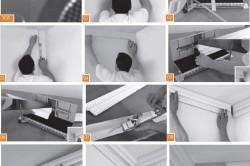 Этапы монтажа потолочного плинтуса