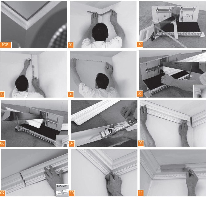 Как вырезать углы на потолочных плинтусах в домашних условиях 812