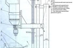 Конструкция сверлильно-фрезерного станка из дрели